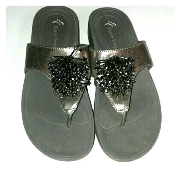 379ea459f Bare Traps Shoes - Bare Traps Silver Pewter Decoration Thong Sandal 8